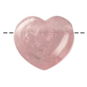 Herz Rosenquarz gebohrt, 4,5cm